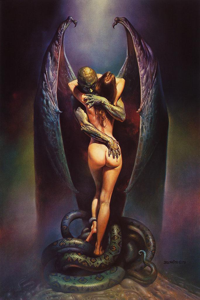 """Борис Вальехо (Boris Vallejo), """"Vampire's Kiss"""""""
