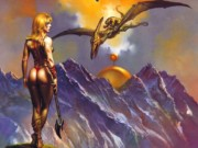 "Борис Вальехо (Boris Vallejo), ""Sorna of the axpeople"""