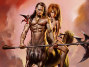 "Борис Вальехо (Boris Vallejo), ""Centaur And Mate"""