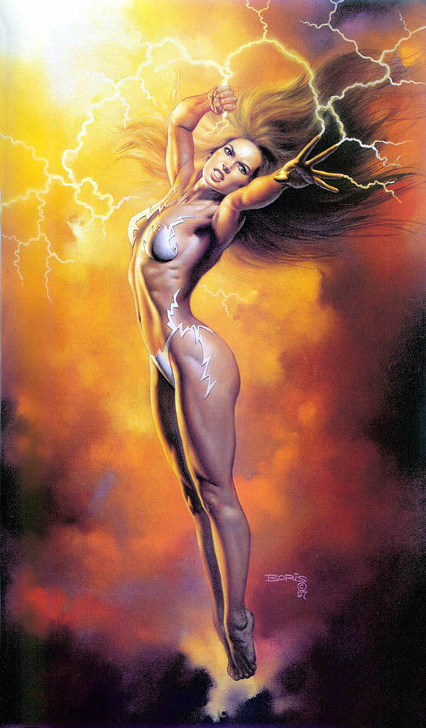 "Борис Вальехо (Boris Vallejo), ""Mistress of the Storm"""