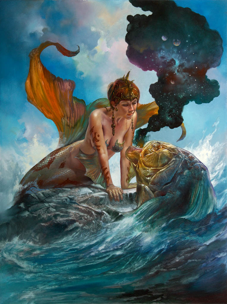 "Борис Вальехо (Boris Vallejo), ""From The Sea To The Cosmos"""