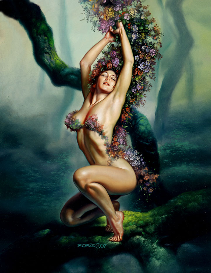"Борис Вальехо (Boris Vallejo), ""Goddess Of The Earth"""