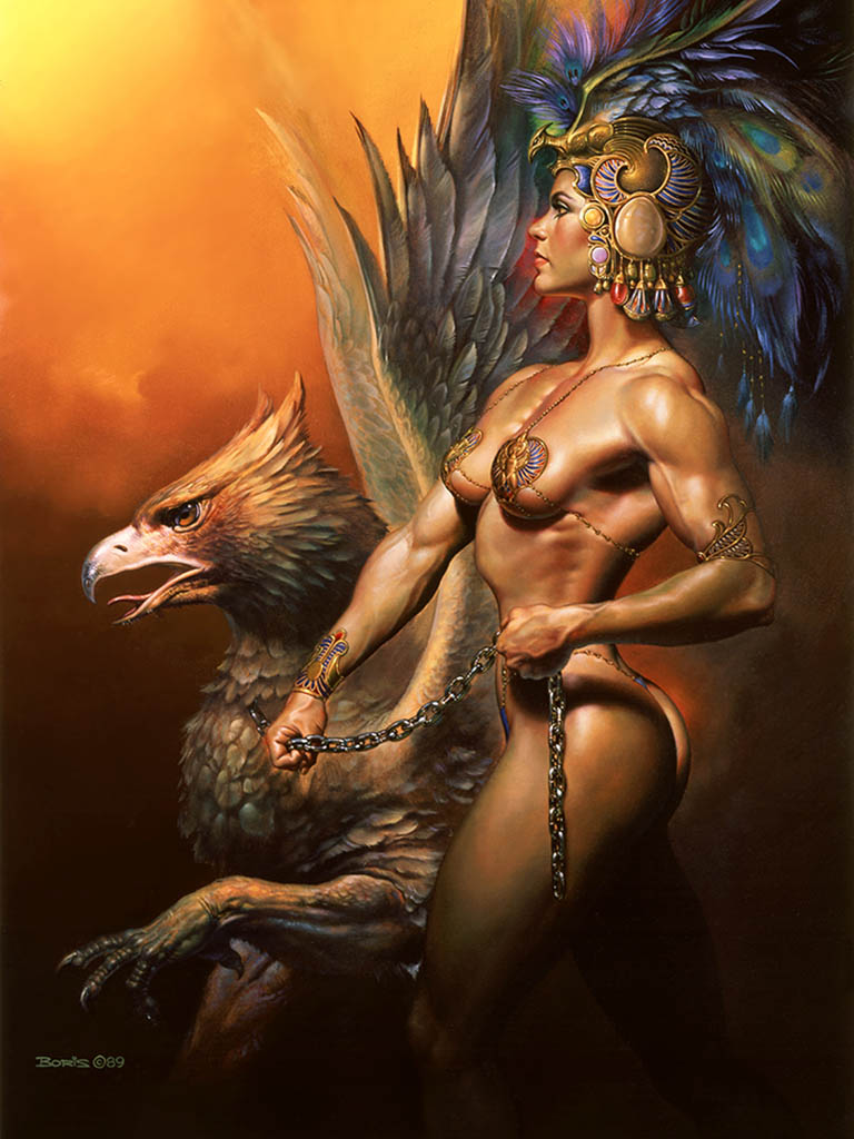 "Борис Вальехо (Boris Vallejo), ""Gryphon Keeper"""