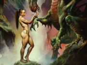 "Борис Вальехо (Boris Vallejo), ""Kiss My Hand"""
