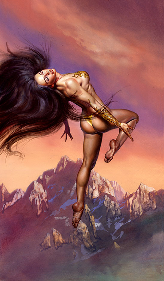 "Борис Вальехо (Boris Vallejo), ""Lady Of The Air"""