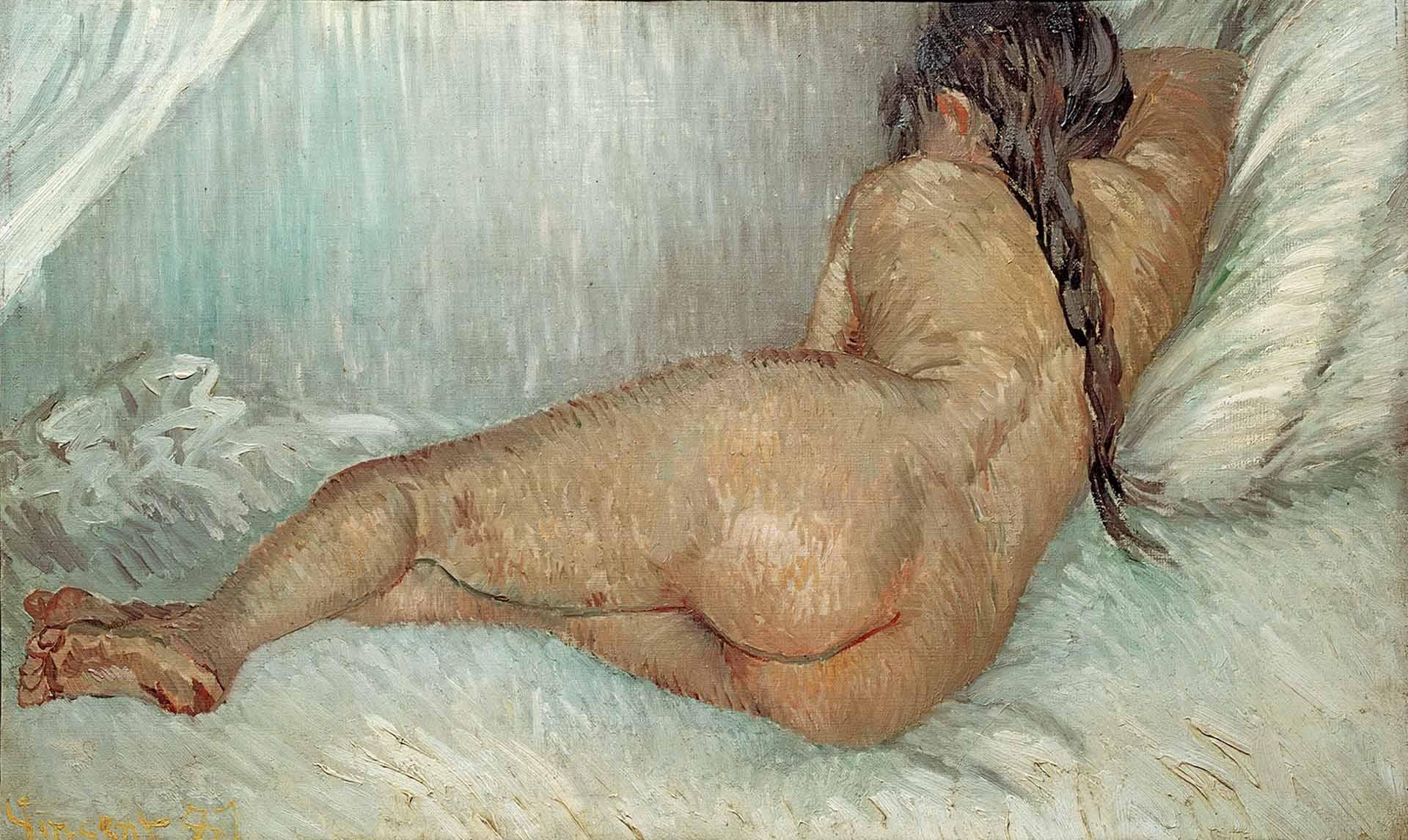 """Винсент ван Гог (Vincent van Gogh), """"Отдыхающая обнаженная, вид со спины"""""""