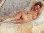 """Винсент ван Гог (Vincent van Gogh), """"Обнаженная в постели"""""""
