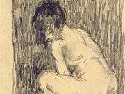 "Винсент ван Гог (Vincent van Gogh), ""Обнаженная над судном"""