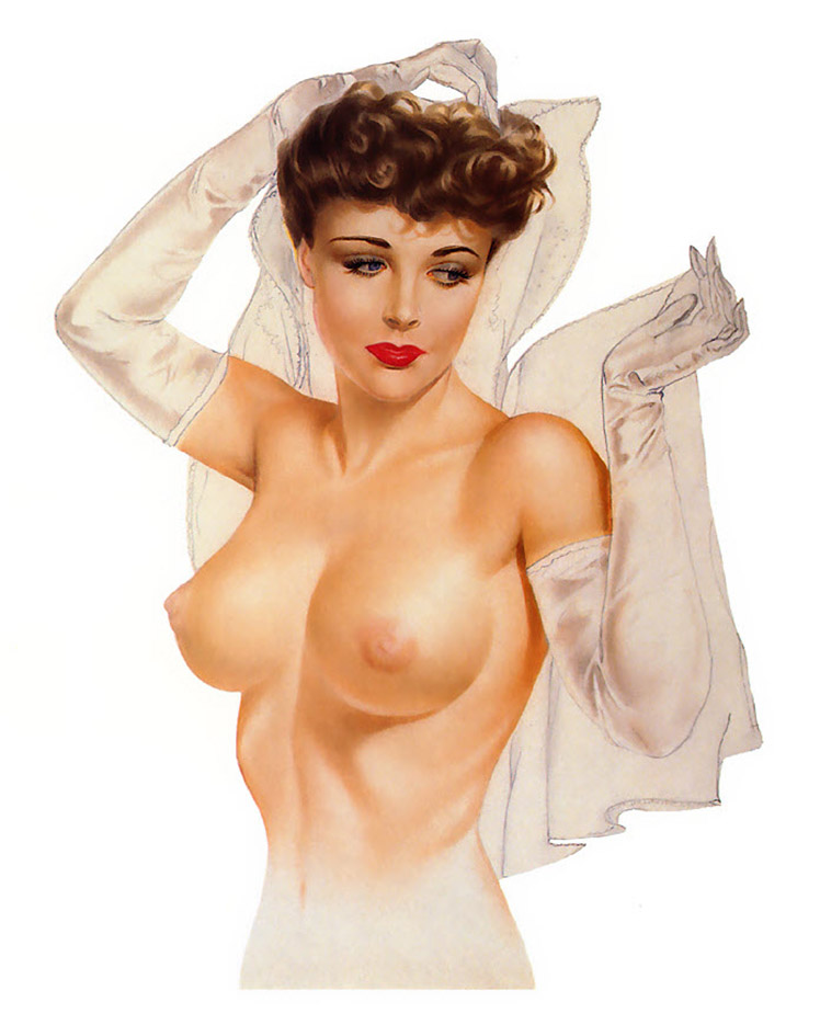 Naked pin up chick