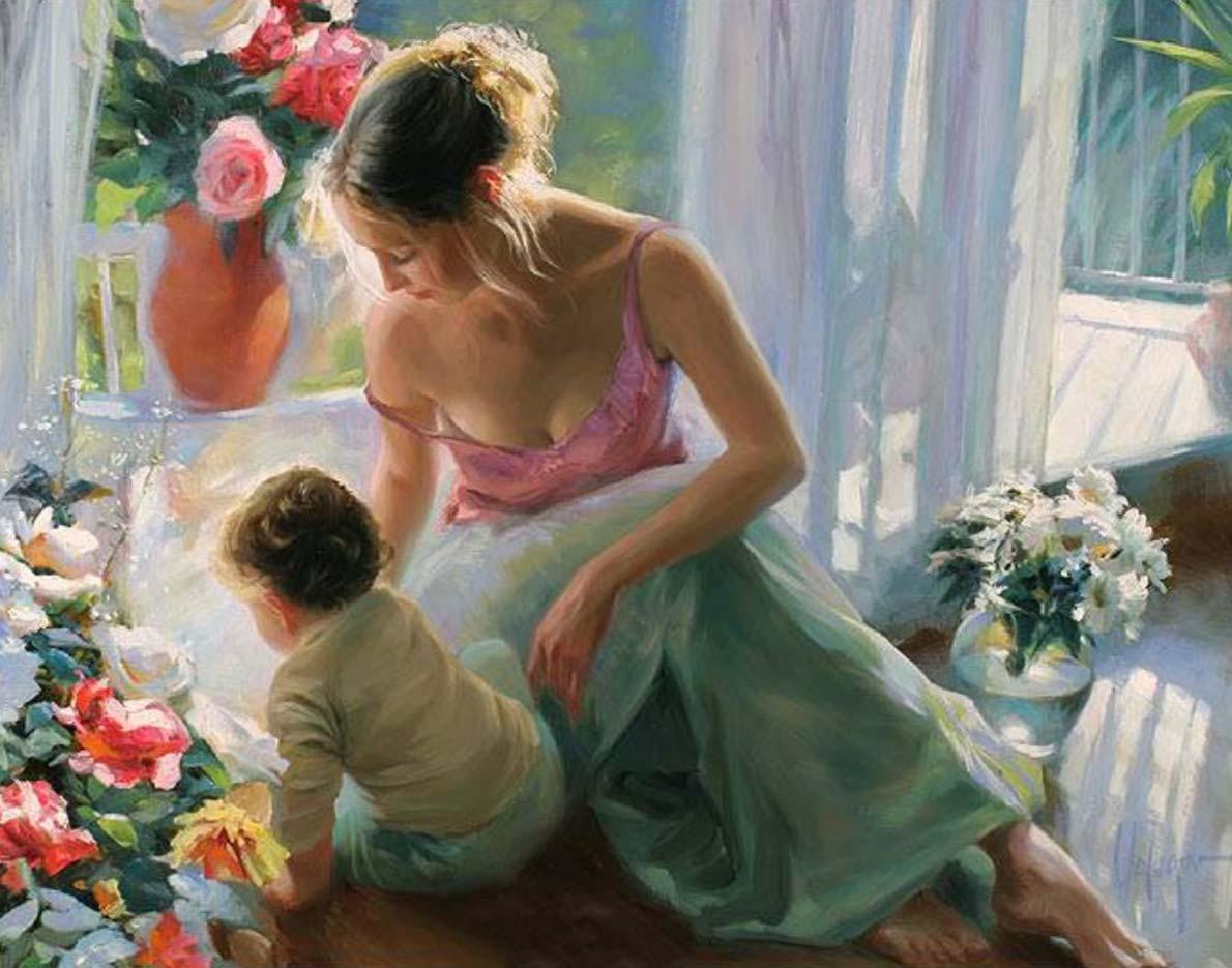 "Владимир Волегов (Vladimir Volegov) ""Mother and son"""