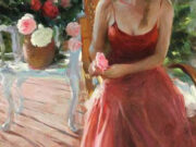 "Владимир Волегов (Vladimir Volegov) ""In red on terrace"""