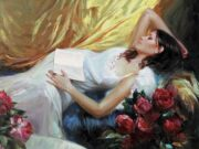 "Владимир Волегов (Vladimir Volegov) ""Lying with a book"""