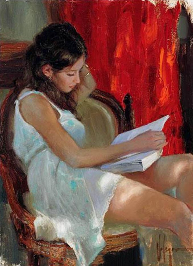 """Владимир Волегов (Vladimir Volegov) """"Reading novel"""""""