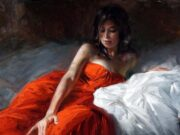 "Владимир Волегов (Vladimir Volegov) ""In red on the bed"""