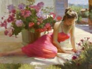 "Владимир Волегов (Vladimir Volegov) ""In shadow with flowers"""