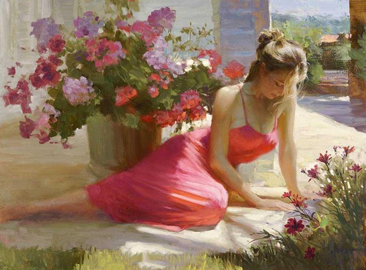 "Владимир Волегов (Vladimir Volegov) ""In shadow with flowers"""