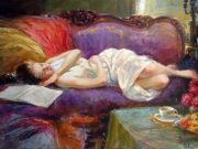 "Владимир Волегов (Vladimir Volegov) ""Rest on violet couch"""
