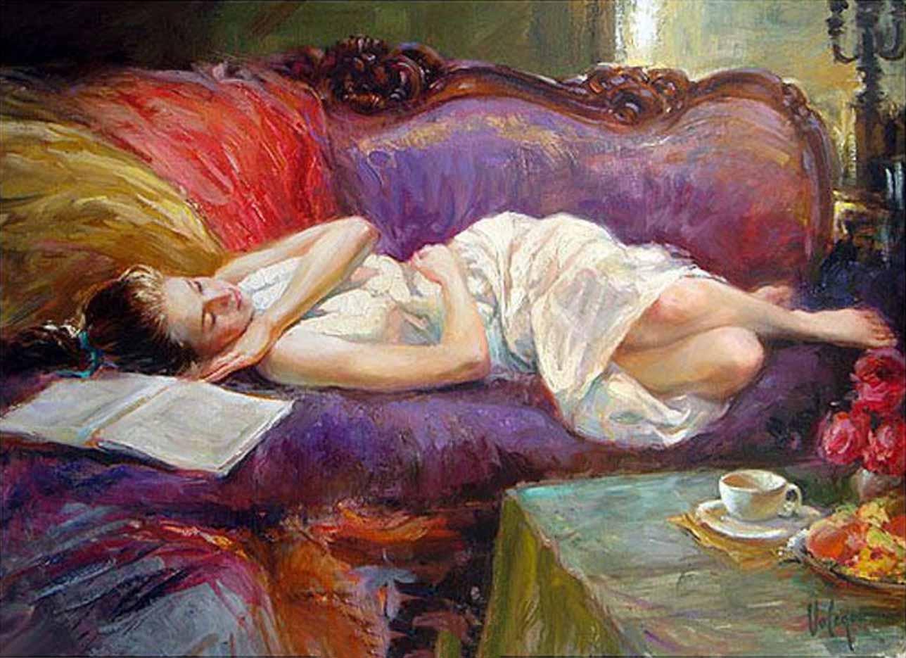 "Владимир Волегов (Vladimir Volegov) ""Rest on violet couch"""