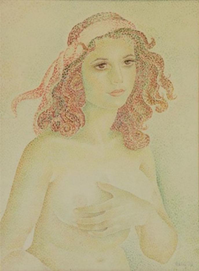 "Мария Воробьёва-Стебельская (Маревна) - Marie Vorobieff (Marevna) ""Young Beauty"""