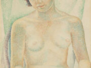 "Мария Воробьёва-Стебельская (Маревна) - Marie Vorobieff (Marevna) ""Seated nude"""
