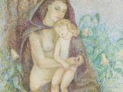 "Мария Воробьёва-Стебельская (Маревна) - Marie Vorobieff (Marevna) ""Mother and Child"""