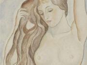 "Мария Воробьёва-Стебельская (Маревна) - Marie Vorobieff (Marevna) ""Standing Nude"""