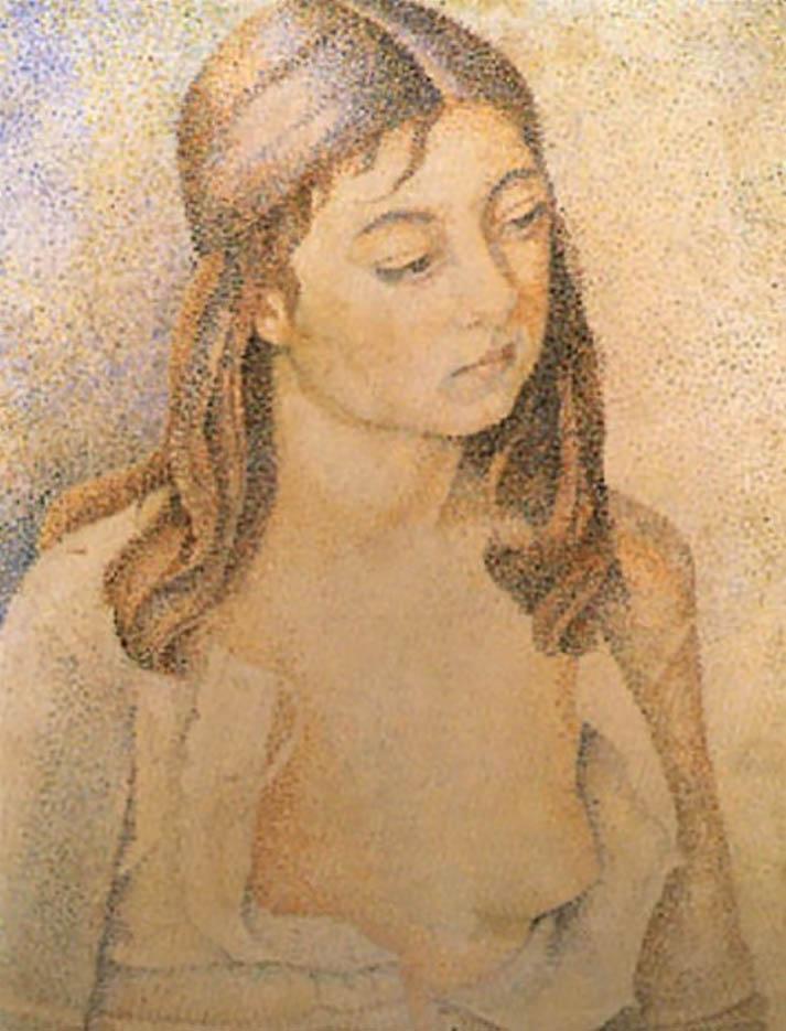 """Мария Воробьёва-Стебельская (Маревна) - Marie Vorobieff (Marevna) """"Portrait de Marika"""""""