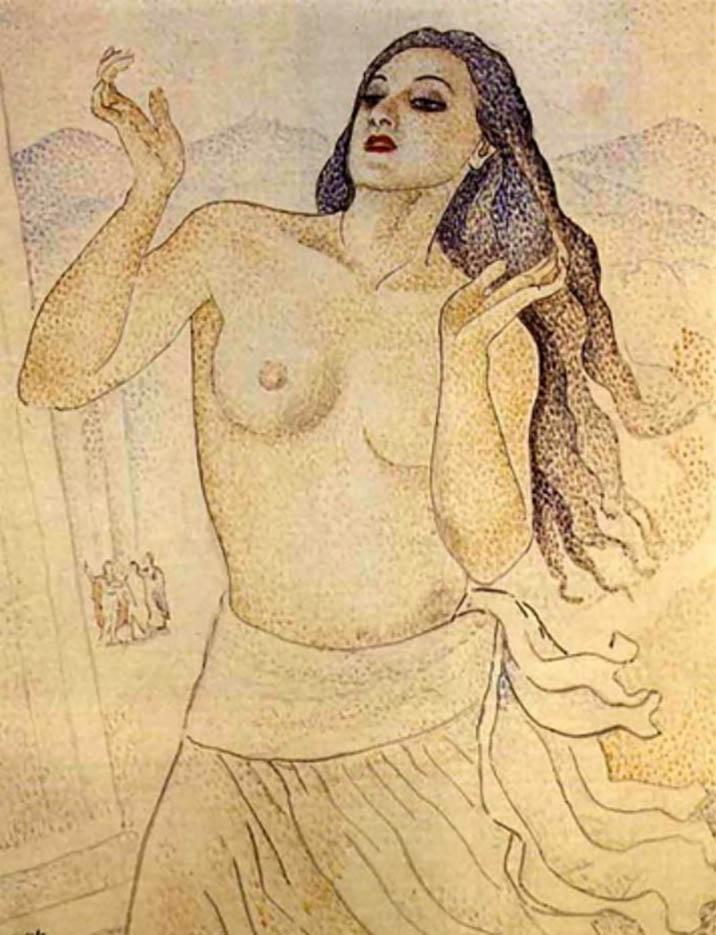 """Мария Воробьёва-Стебельская (Маревна) - Marie Vorobieff (Marevna) """"Nude - 2"""""""