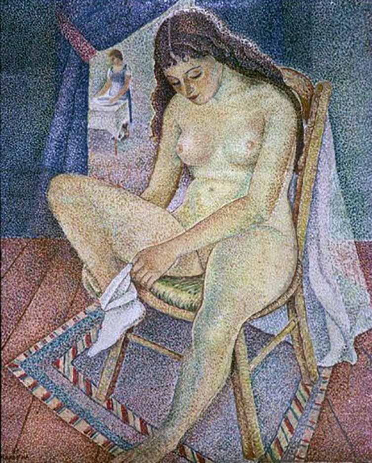 "Мария Воробьёва-Стебельская (Маревна) - Marie Vorobieff (Marevna) ""Untitled - 46"""