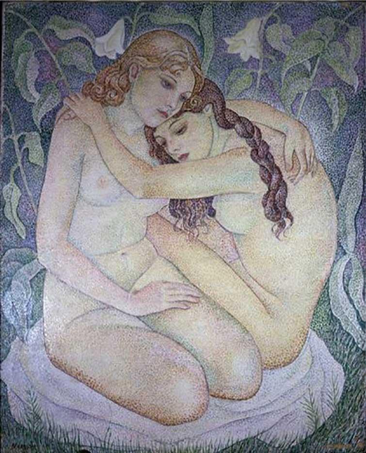 "Мария Воробьёва-Стебельская (Маревна) - Marie Vorobieff (Marevna) ""Untitled - 47"""