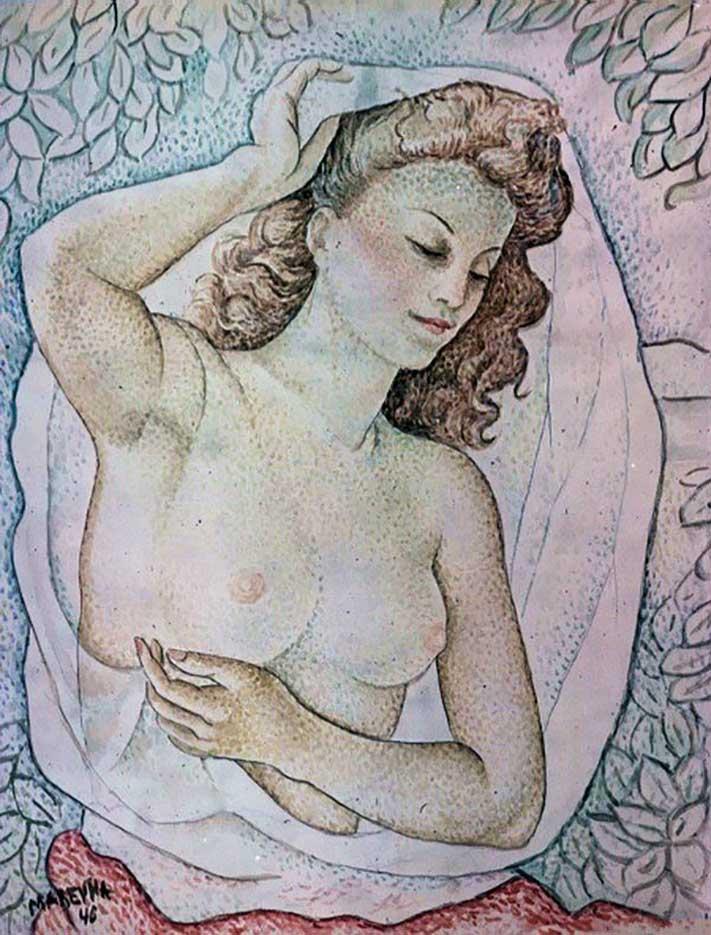 "Мария Воробьёва-Стебельская (Маревна) - Marie Vorobieff (Marevna) ""Untitled - 49"""