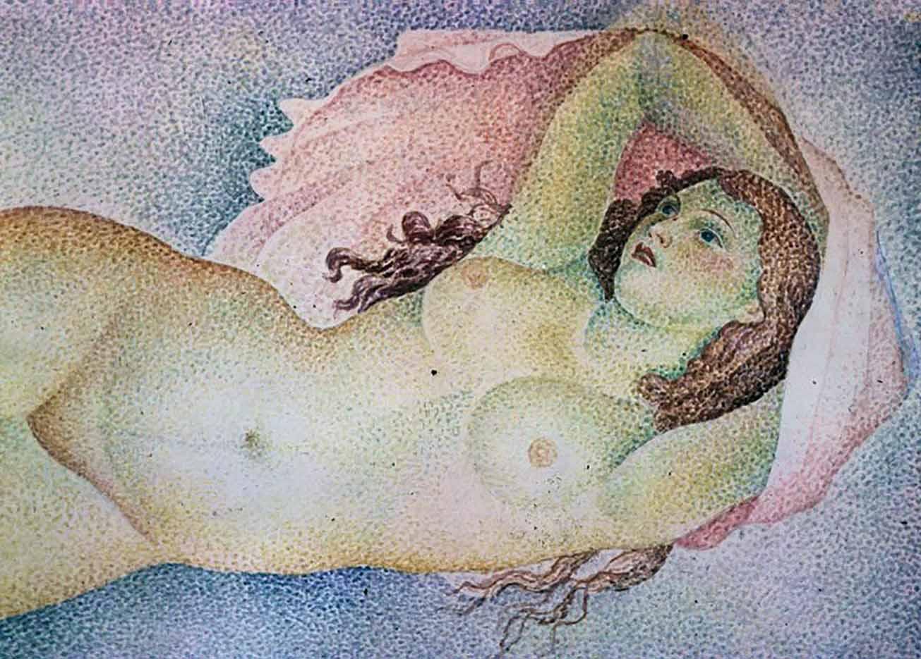"Мария Воробьёва-Стебельская (Маревна) - Marie Vorobieff (Marevna) ""Untitled - 50"""