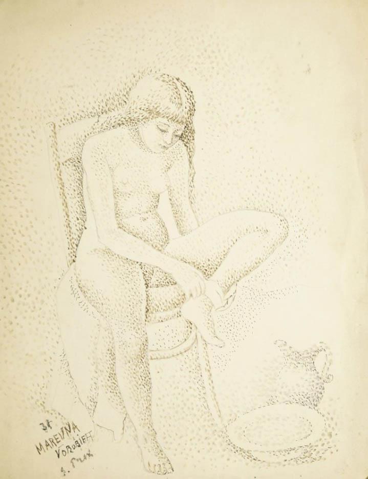 """Мария Воробьёва-Стебельская (Маревна) - Marie Vorobieff (Marevna) """"Portrait of Marika - 3"""""""