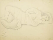 "Мария Воробьёва-Стебельская (Маревна) - Marie Vorobieff (Marevna) ""Jeanne-Augustine Lohy (Fernand Léger's wife)"""