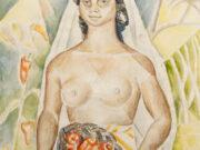 "Мария Воробьёва-Стебельская (Маревна) - Marie Vorobieff (Marevna) ""Негритянка с перцами | Black woman with peppers"""