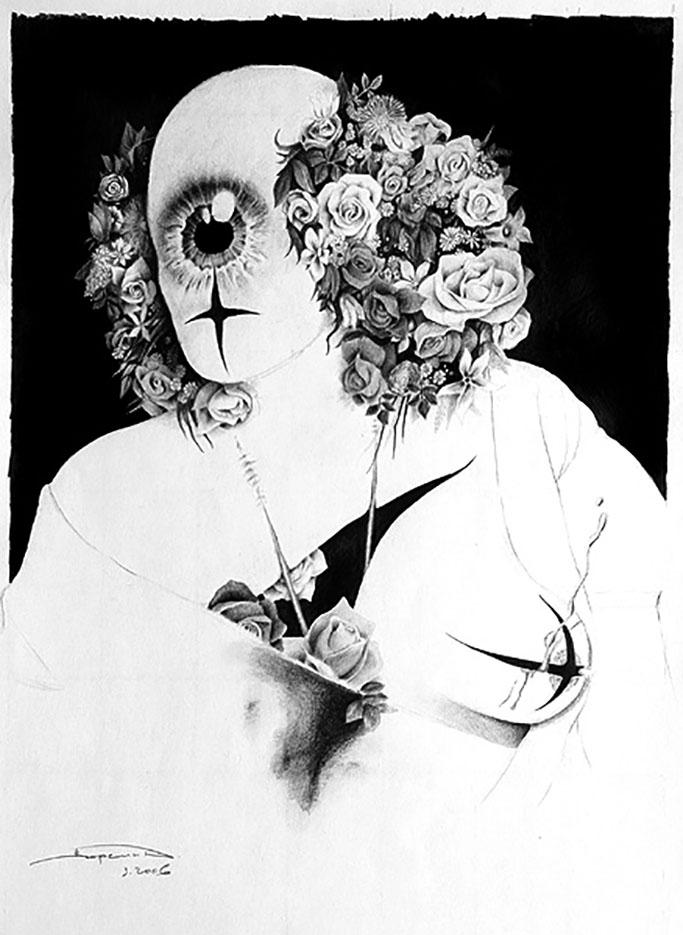 Дмитрий Ворсин (Dmitry Vorsin), Женщина с цветами