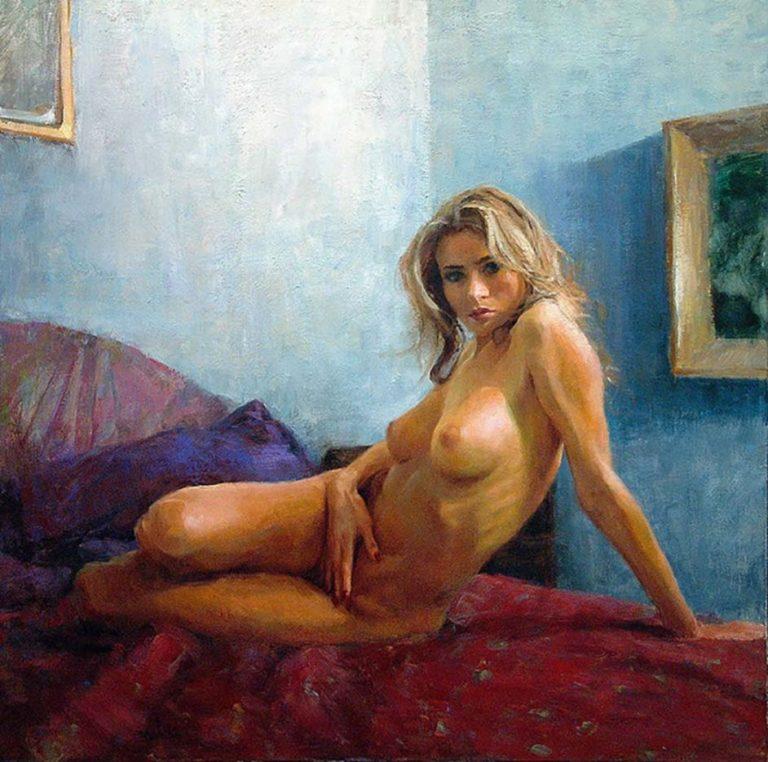 живописные картины маслом на холсте в стиле ню и порно - 8