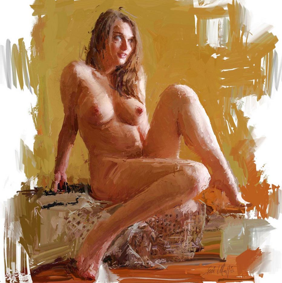 "Эрик Уоллис (Eric Wallis) ""Seated And Smiling"""