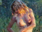 "Эрик Уоллис (Eric Wallis) ""Nude At Sunset"""