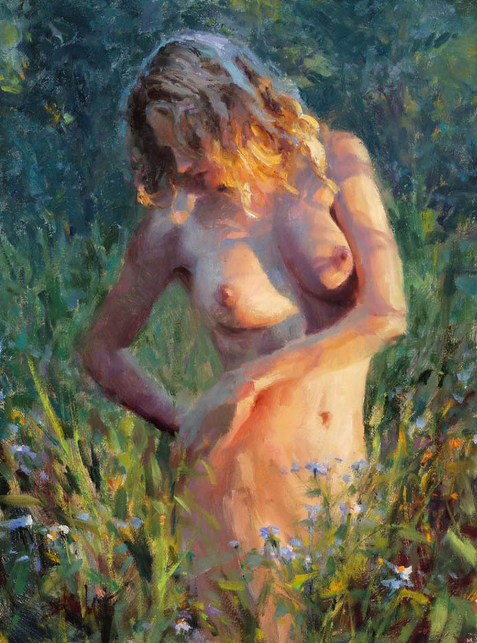 "Эрик Уоллис (Eric Wallis) ""Nude At Sunset"""