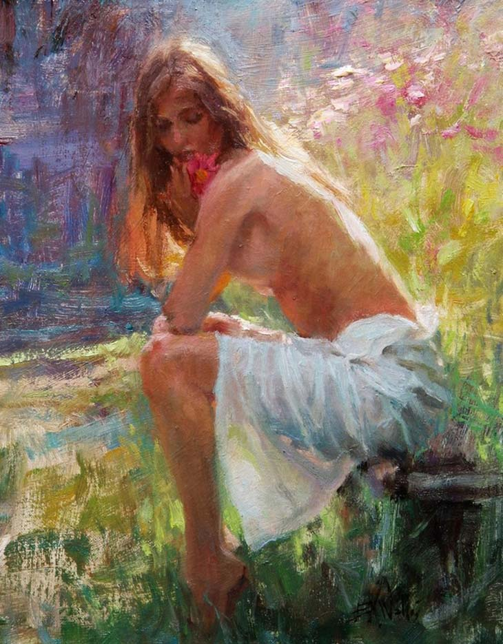 "Эрик Уоллис (Eric Wallis) ""Woman With Cosmos"""