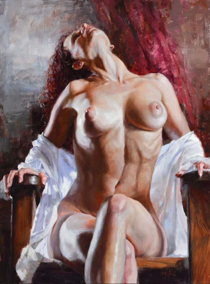 "Эрик Уоллис (Eric Wallis) ""Seated Looking Up"""