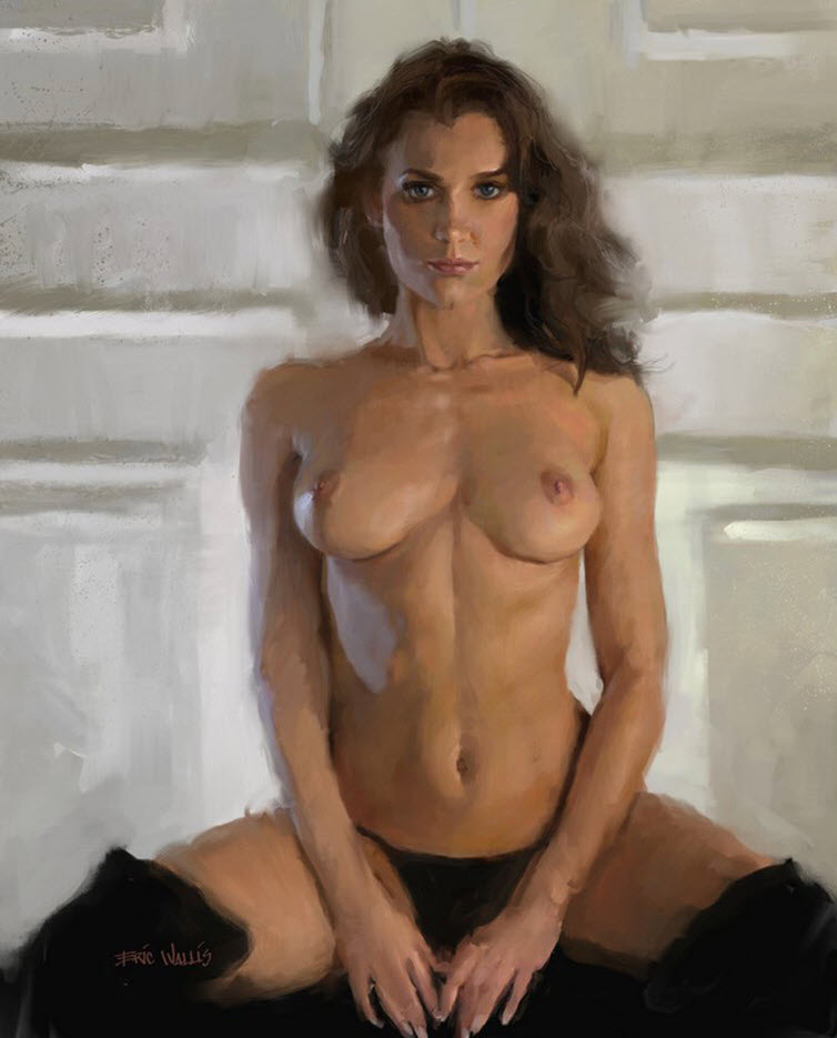 "Эрик Уоллис (Eric Wallis) ""Nude Seated In Boots"""