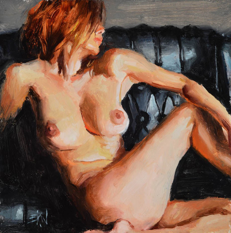 "Эрик Уоллис (Eric Wallis) ""Nude On Black Leather"""