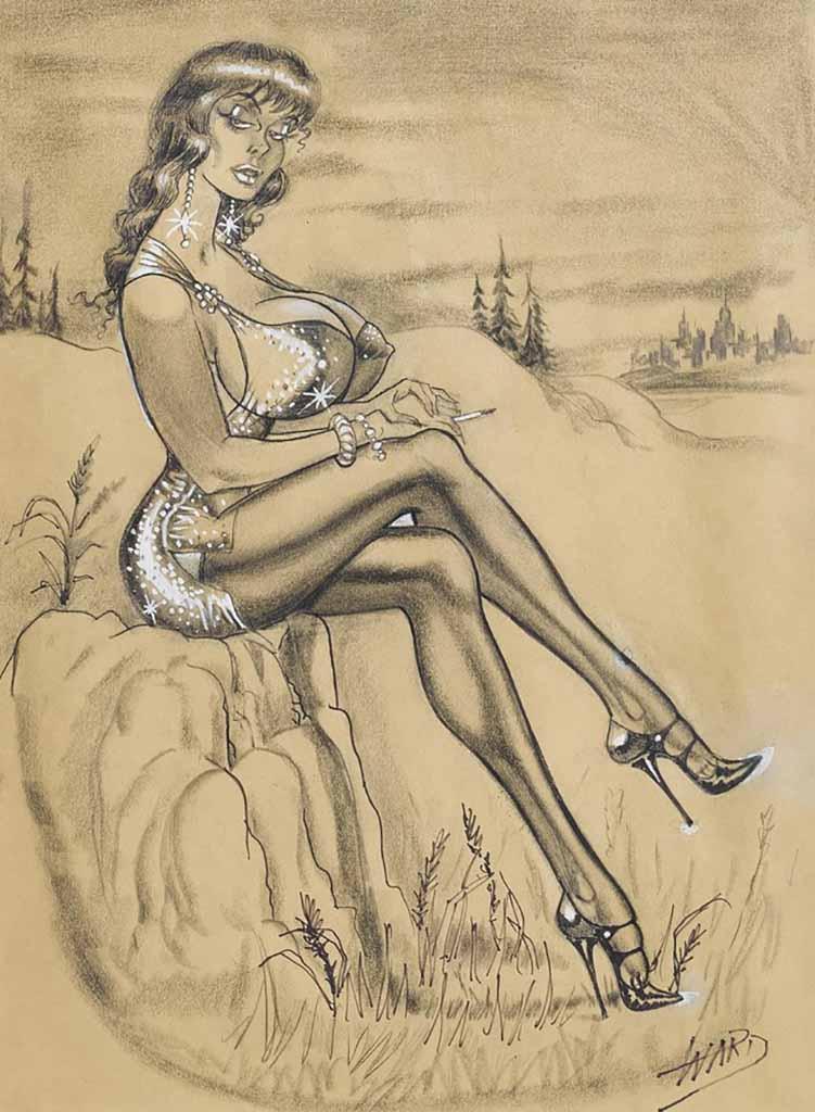 "Билл Уорд (Bill Ward) ""A Russ Meyer 'Bustoon' illustration - 2"""