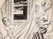 "Билл Уорд (Bill Ward) ""Men's Magazine Sexy Cartoon Illustration Orig - 2"""