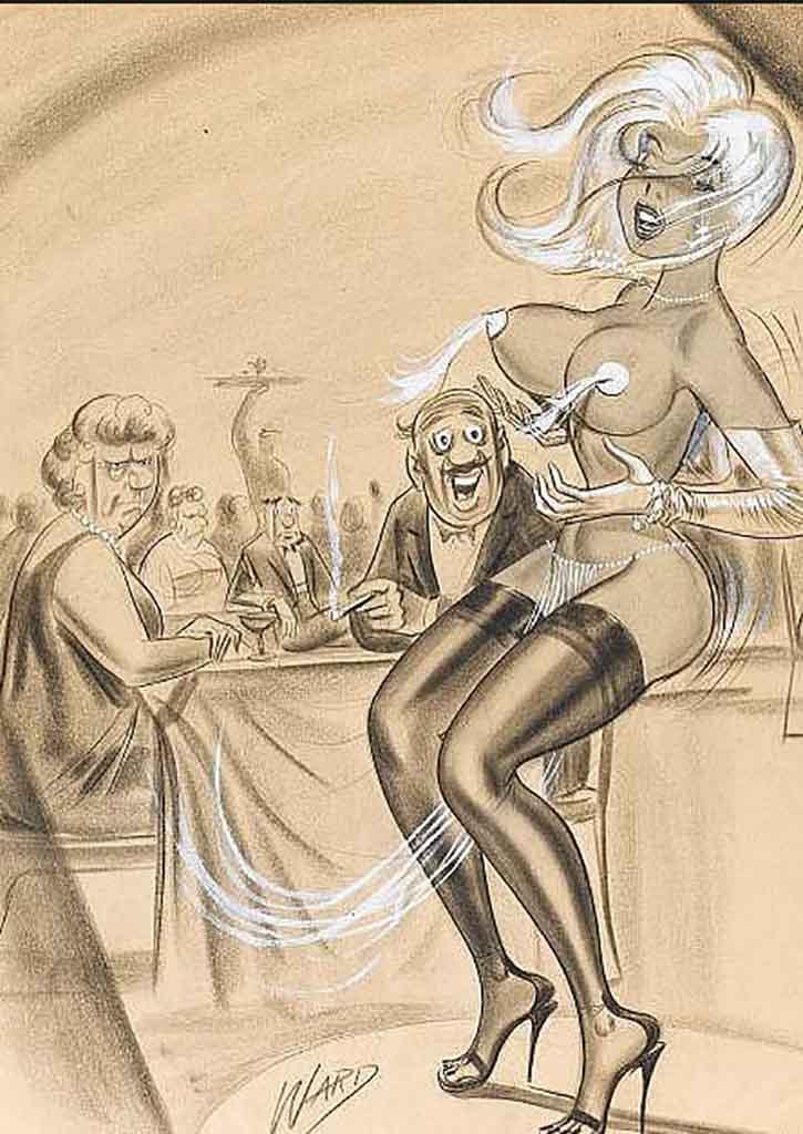 "Билл Уорд (Bill Ward) ""Men's Magazine Sexy Cartoon Illustration Orig - 4"""