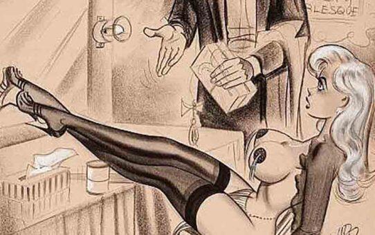 "Билл Уорд (Bill Ward) ""Men's Magazine Sexy Cartoon Illustration Orig - 5"""