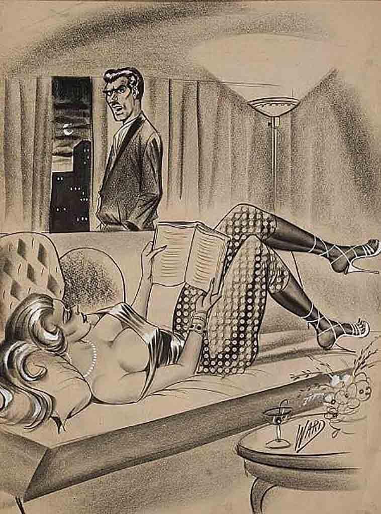 "Билл Уорд (Bill Ward) ""Men's Magazine Sexy Cartoon Illustration Orig - 6"""