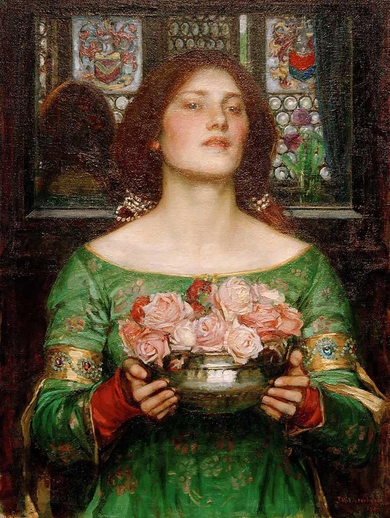 """Джон Уильям Уотерхаус (John William Waterhouse), """"Срывайте розы поскорей"""""""